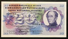 Svizzera 20 Francs Franken Franchi 1973 Fds Unc LOTTO 1969 - Switzerland