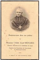 FONTENAY LE COMTE LUCON GENEALOGIE IMAGE SOUVENIR MORTUAIRE FAIRE PARTS DECES : Chanoine Aimé MENARD - Décès