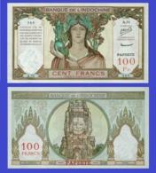 Tahiti 100   Francs 1939  - REPLICA --  REPRODUCTION - Billets