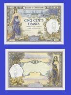 Tahiti 500   Francs 1923  - REPLICA --  REPRODUCTION - Billets
