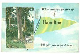 2x Canada, Hamilton Flag Postcard. Printed, Used. - Hamilton