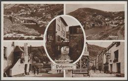Multiview, Polperro, Cornwall, C.1940s - Photo Precision RP Postcard - England