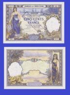 Tahiti 500   Francs 1926  - REPLICA --  REPRODUCTION - Billets