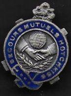 Secours Mutuels  HOTCHKISS - Insigne De Boutonnière émaillé Mourgeon - Insignes & Rubans