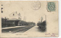 """1 Cpa Combs La Ville """"La Gare"""" """"pionnière"""" - Combs La Ville"""