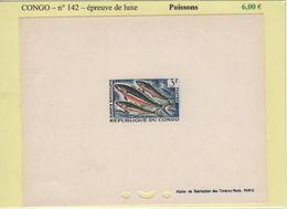 Congo - Epreuve De Luxe - N°142 - Poissons - République Du Congo (1960-64)