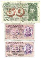 Svizzera 10 Francs Franken 1972 + 1974 + 50 Francs Franken 1973 LOTTO 1648 - Svizzera