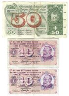 Svizzera 10 Francs Franken 1972 + 1974 + 50 Francs Franken 1973 LOTTO 1648 - Switzerland