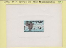 Congo - Epreuve De Luxe - PA N°118 - Reseau Telecommunications - République Du Congo (1960-64)
