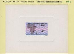 Congo - Epreuve De Luxe - PA N°119 - Reseau Telecommunications - République Du Congo (1960-64)
