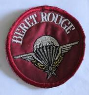 écusson Brodé Beret Rouge Parachutiste Insigne Militaria Diamètre 6.5cm - Patches