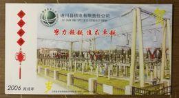 Suichuan 110KV Transformer Substation,CN06 State Grid Electric Power Supply Company Pre-stamped Card,specimen Overprint - Electricité