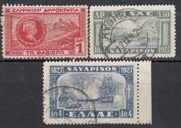 GRIECHENLAND 1927 -  MiNr: 318+321+322  Used - Griechenland