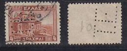 GRIECHENLAND 1935 -  MiNr: 373 Perfin  Used - Griechenland