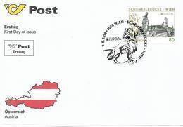 2018 Austria Österreich Mi.3393 FDC. Europa: Brücken.: Schemerlbrücke, Wien - 2018