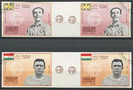 1952 - Sharjah Fussballer PUSKAS + MATHEWS Ungezähnt Mit Zwischensteg !!! - Football