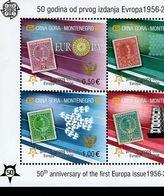 CEPT 50 Jahre Europamarken Montenegro Block 2 A  MNH ** Postfrisch - Montenegro