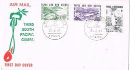 29277. Carta Aerea PORT MORESBY (Papua Y Nueva Guinea) 1969 - Papouasie-Nouvelle-Guinée