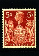 GREAT BRITAIN - 1939  KGVI  5s RED  MINT NH - 1902-1951 (Re)