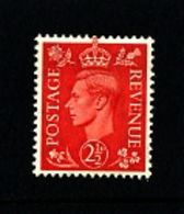 GREAT BRITAIN - 1951  KGVI   2 1/2d  COLOURS CHANGED   MINT NH - 1902-1951 (Re)