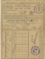 Carte-Quittance A. Pour Assurance Obligatoire Alsace Lorraine Cachet Section De Police Ville De Metz 10.7.1920(4scans) - Vieux Papiers