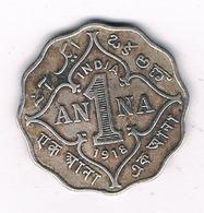 1 ANNA 1918 INDIA /4128G/ - Inde