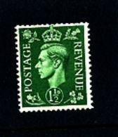 GREAT BRITAIN - 1951  KGVI  1 1/2d  COLOURS CHANGED  WMK SIDEWAYS  MINT  NH - 1902-1951 (Re)
