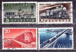 Treni  Svizzera 1947 -Serie Completa Usata - Eisenbahnen