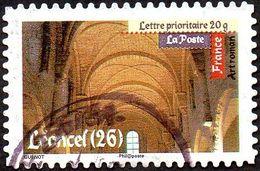 Oblitération Cachet à Date Sur Autoadhésif De France N°  456 - Art Roman - Intérieur De L'abbaye Cistercienne De Léoncel - France