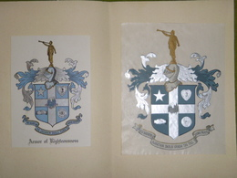 Lot De 2 Ex-libris Armoriés XIXème - Armor Of Righteousness - Ex Libris