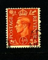 GREAT BRITAIN - 1951  KGVI  1/2d  COLOURS CHANGED  WMK INVERTED  FINE USED - Usati