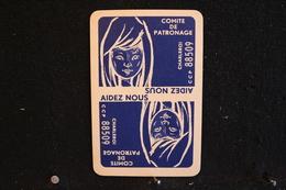 Playing Cards / Carte A Jouer / 1 Dos De Cartes Avec Publicité /Comite De Patronage, Aidez Nous Charleroi - Objets Publicitaires