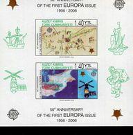 CEPT 50 Jahre Europamarken Türkisch Zypern Block 24 B  MNH ** Postfrisch - Zypern (Türkei)