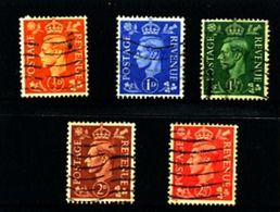 GREAT BRITAIN - 1951  KGVI  COLOURS CHANGED  WMK INVERTED  SET  FINE USED - Usati