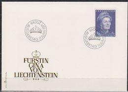 Lichtenstein FDC 1971 MiNr.544 Fürstin Gina ( D 4999 ) Günstige Versandkosten - FDC