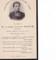 AVIS DE  DECES ,,,,,  L' ABBE  LOUIS   HERVE ,,,, EUDISTE    1912,,,,,,TBE - Décès