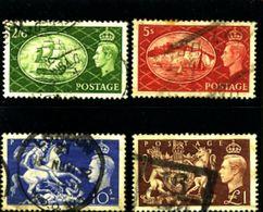 GREAT BRITAIN - 1951  FESTIVAL  HIGH VALUES   SET  FINE USED - Usati