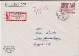 DDR Mi 1881 Aufbau EF RBf Berlin Palast Der Republik 1985 - Briefe U. Dokumente