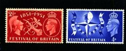 GREAT BRITAIN - 1951  FESTIVAL  SET   MINT NH - 1902-1951 (Re)