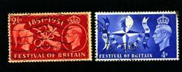 GREAT BRITAIN - 1951  FESTIVAL  SET   FINE USED - Usati