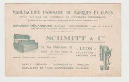 10 Cartes Commerciales Anciennes  Boucherie, Peinture, Métal,, Forge, Transports, Meubles...LYON - Visiting Cards