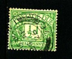 GREAT BRITAIN - 1924  POSTAGE DUES  1/2d WMK  BLOCK CYPHER  FINE USED  SG D10 - Impuestos
