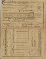 Carte-Quittance Institut D'Assurance Obligatoire Alsace-Lorraine, Ville De Mulhouse 27.9.1922 (4scans) - Old Paper