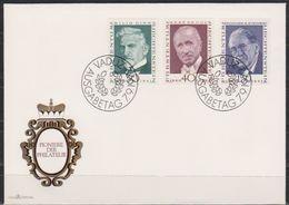 Lichtenstein FDC 1972 MiNr.570-572 Pioniere Der Philatelie ( D 5636 )günstige Versandkosten - FDC