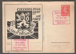 Czechoslovakian Army 1942:Units Stationed In GreatBritain....FIELD POST Card - WW2
