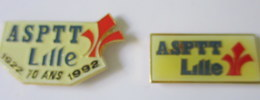 Pin's ASPTT Lille X 2 - Badges