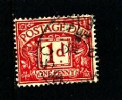 GREAT BRITAIN - 1924  POSTAGE DUES  1d WMK  BLOCK CYPHER  FINE USED  SG D11 - Impuestos