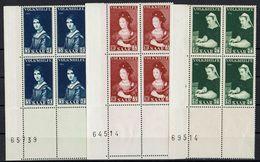 Saarland 1956 // Mi. 376/378 ** 4er (025..495) - 1947-56 Allierte Besetzung