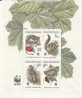 Czech Rep. 11996 World Wildlife Fund - Small Mammals  4v. * - República Checa