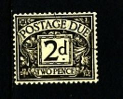 GREAT BRITAIN - 1936 POSTAGE DUES 2d  WMK EDWARD FINE USED  SG D21 - Tasse